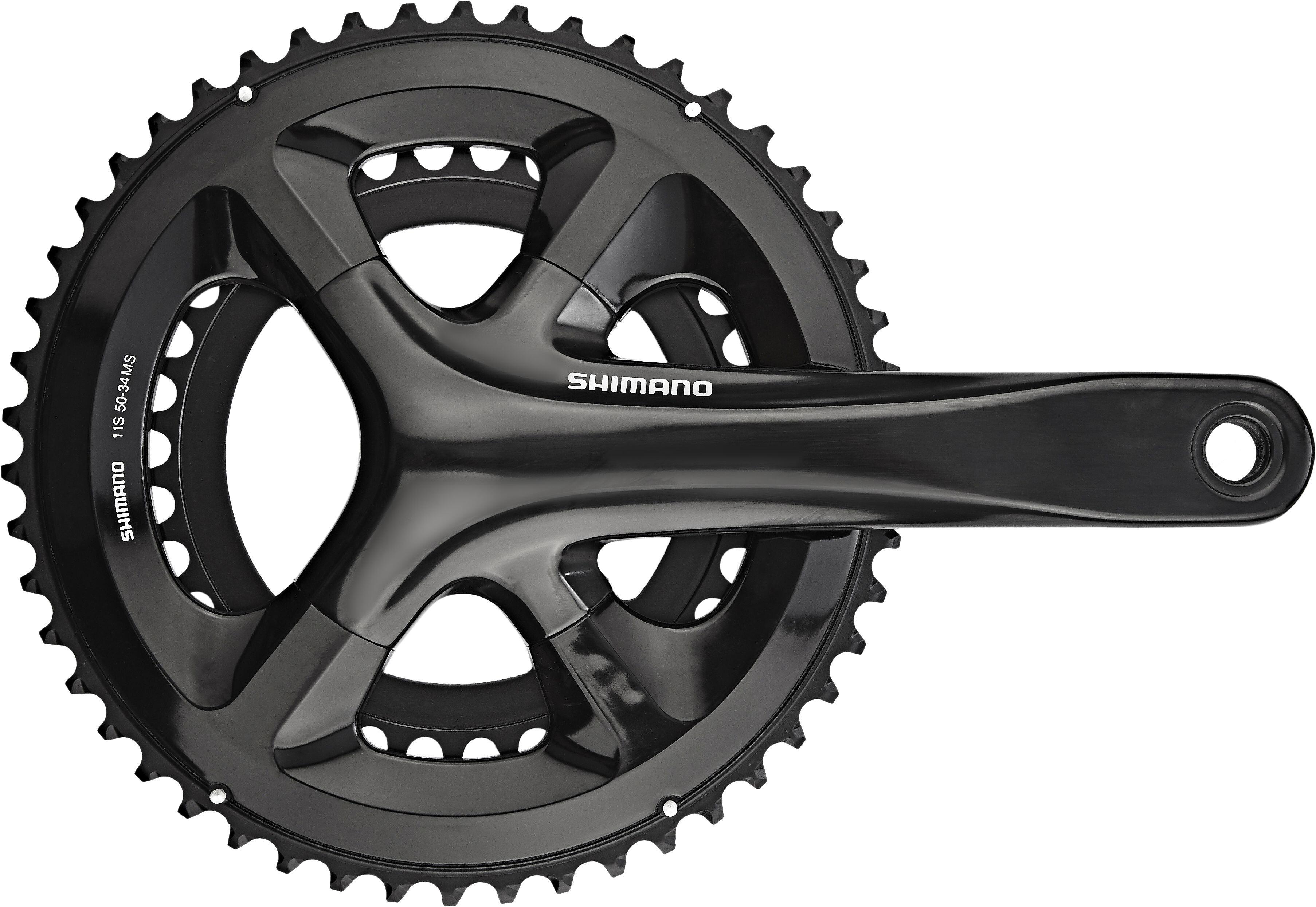 Shimano Road Fc Rs510 Crank Set 2x11 50 34 Tooth Black At Bikester Co Uk